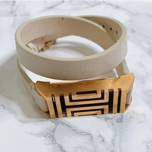Tory Burch for Fitbit® Blush Leather Wrap Bracelet